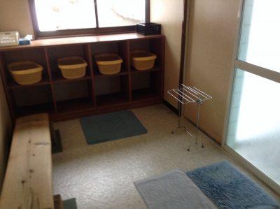 幽谷荘の更衣室