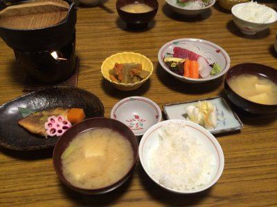 龍気別館の朝ご飯