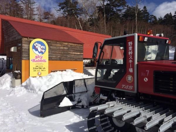 野麦峠の除雪車