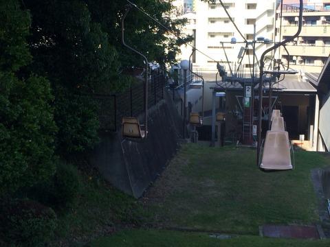 松山城のリフト