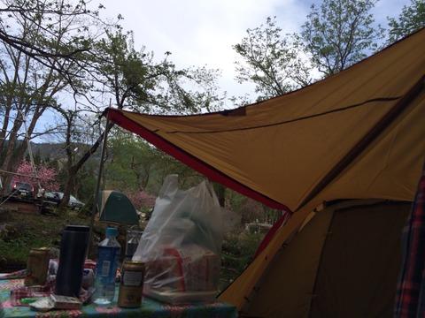 ルーデンスでキャンプ