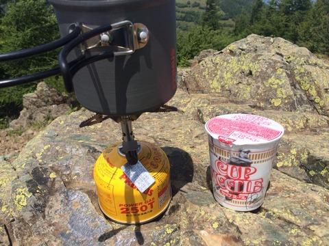 登山のカップヌードル