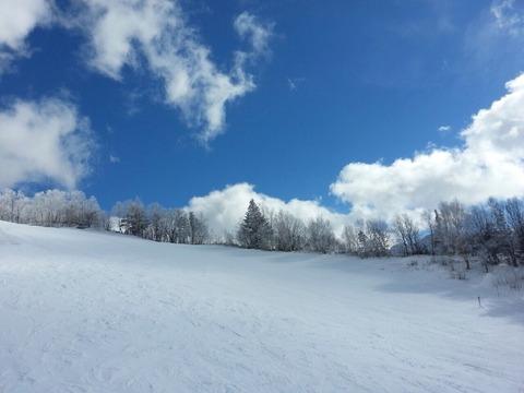 晴れのスキー場