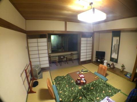 温泉宿の部屋