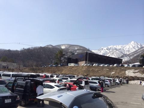 岩岳の駐車場
