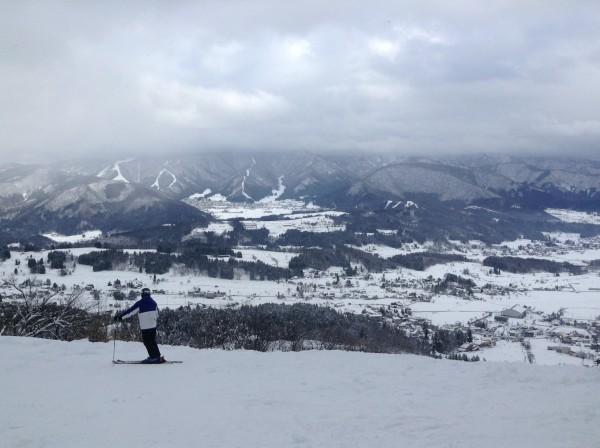戸狩温泉スキー場から見た野沢温泉